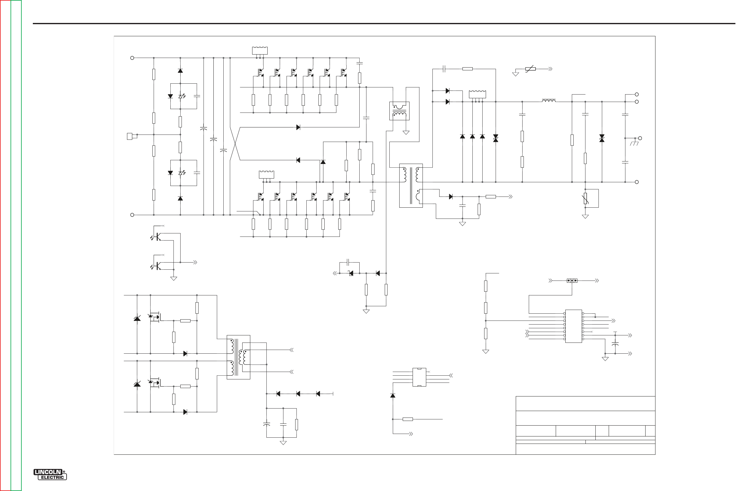 Lincoln Electric V155 S Electrical Diagrams