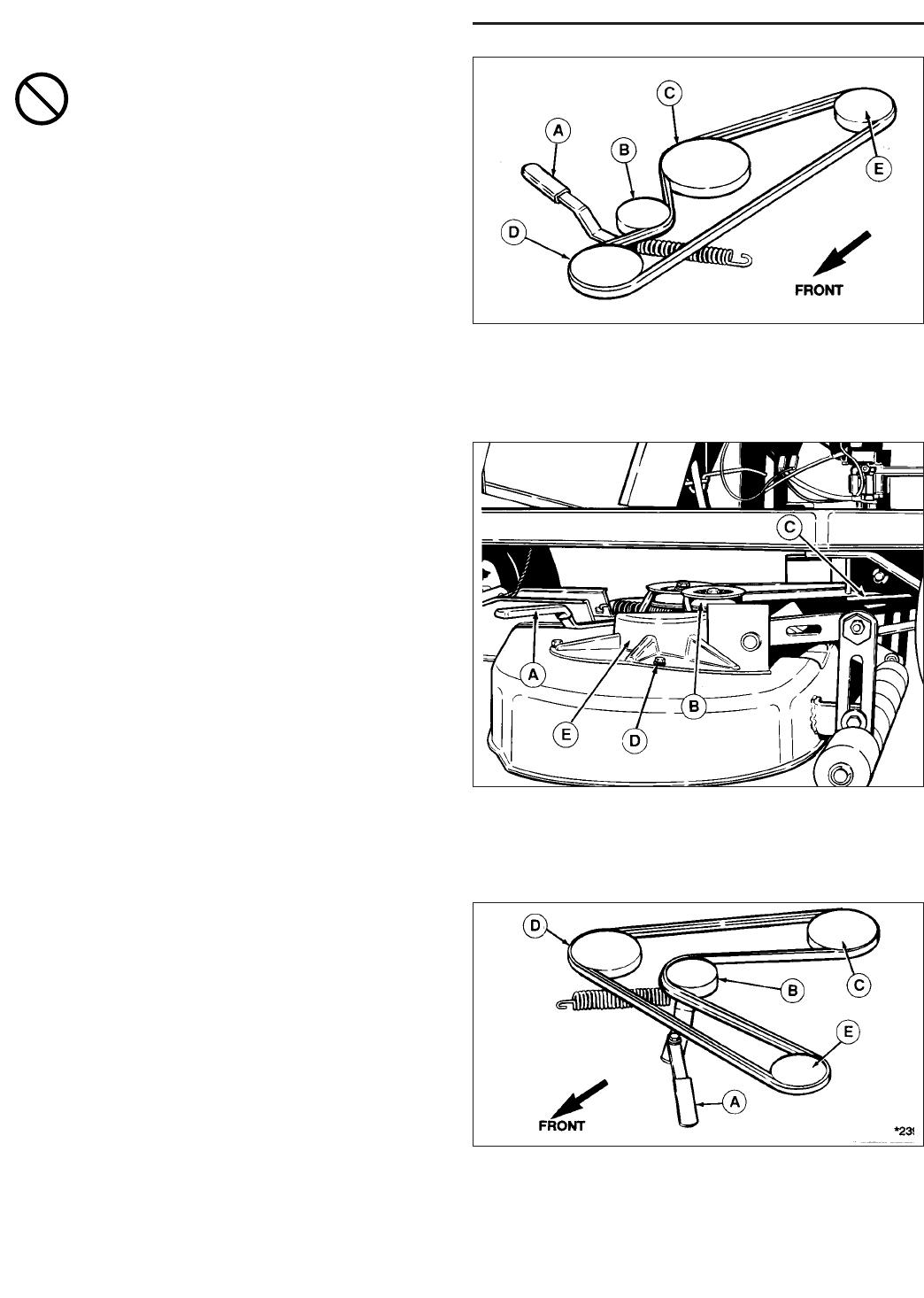 snapper re 200 rider drive belt replacement, mower belt ...  manuals