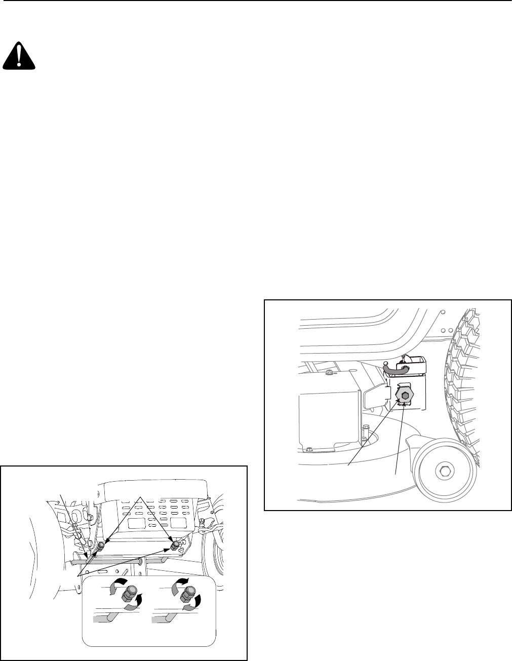 Cub Cadet Lt1042 Lt1046 Lt1045 Lt1050 Section 6 Making Wiring Diagram Leveling The Deck