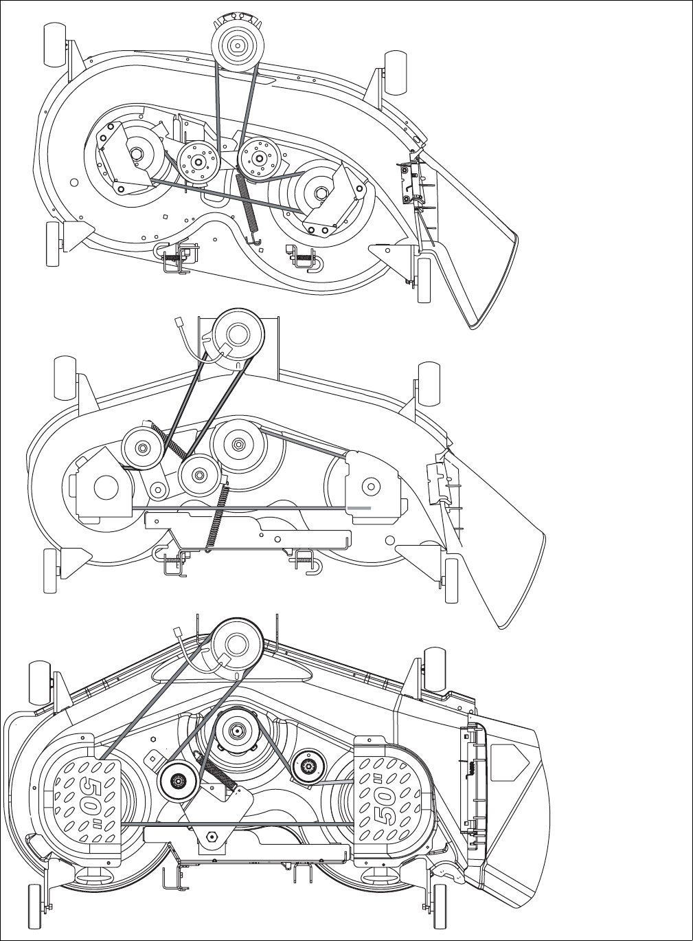 Cub Cadet 1045 Mower Deck Belt Diagrams Wiring Diagram