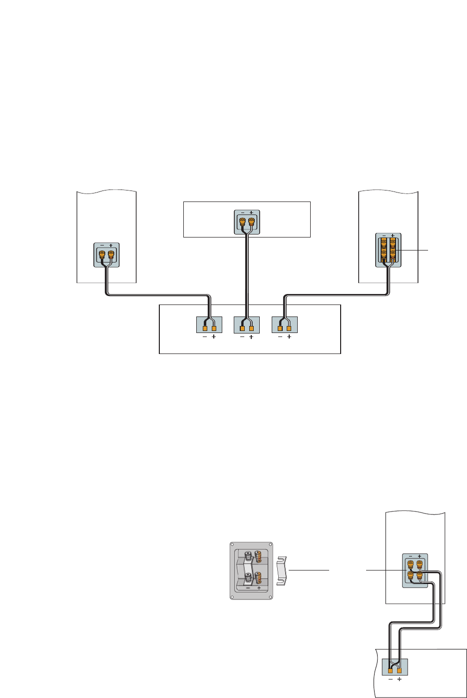 boston acoustics basic hookup, bi-wiring (vr2, vr3 only), connecting the  speakers to your amplier or receiver