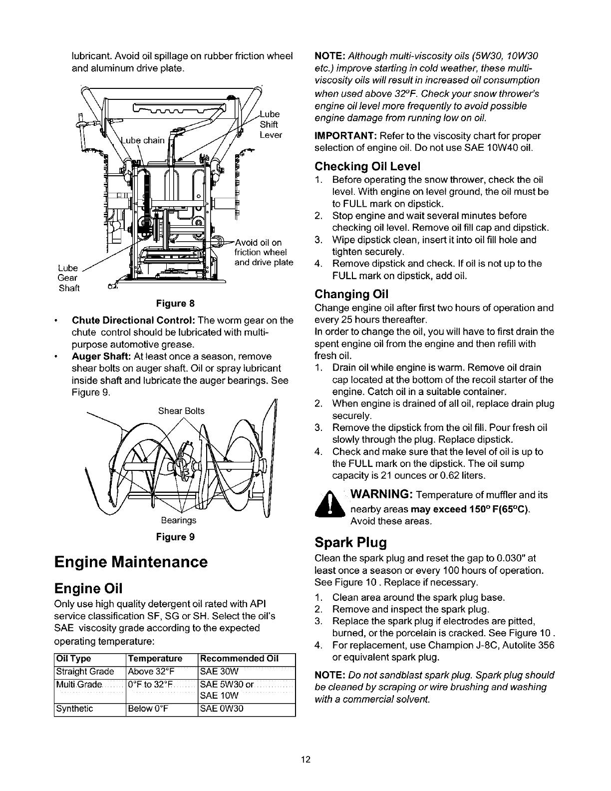 Craftsman 247 88664 Engine Maintenance