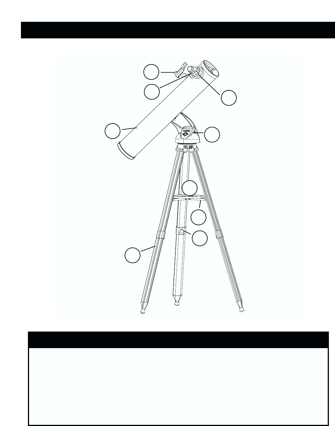 Bushnell 78-8831, 78-8846 TELESCOPE PARTS DIAGRAM