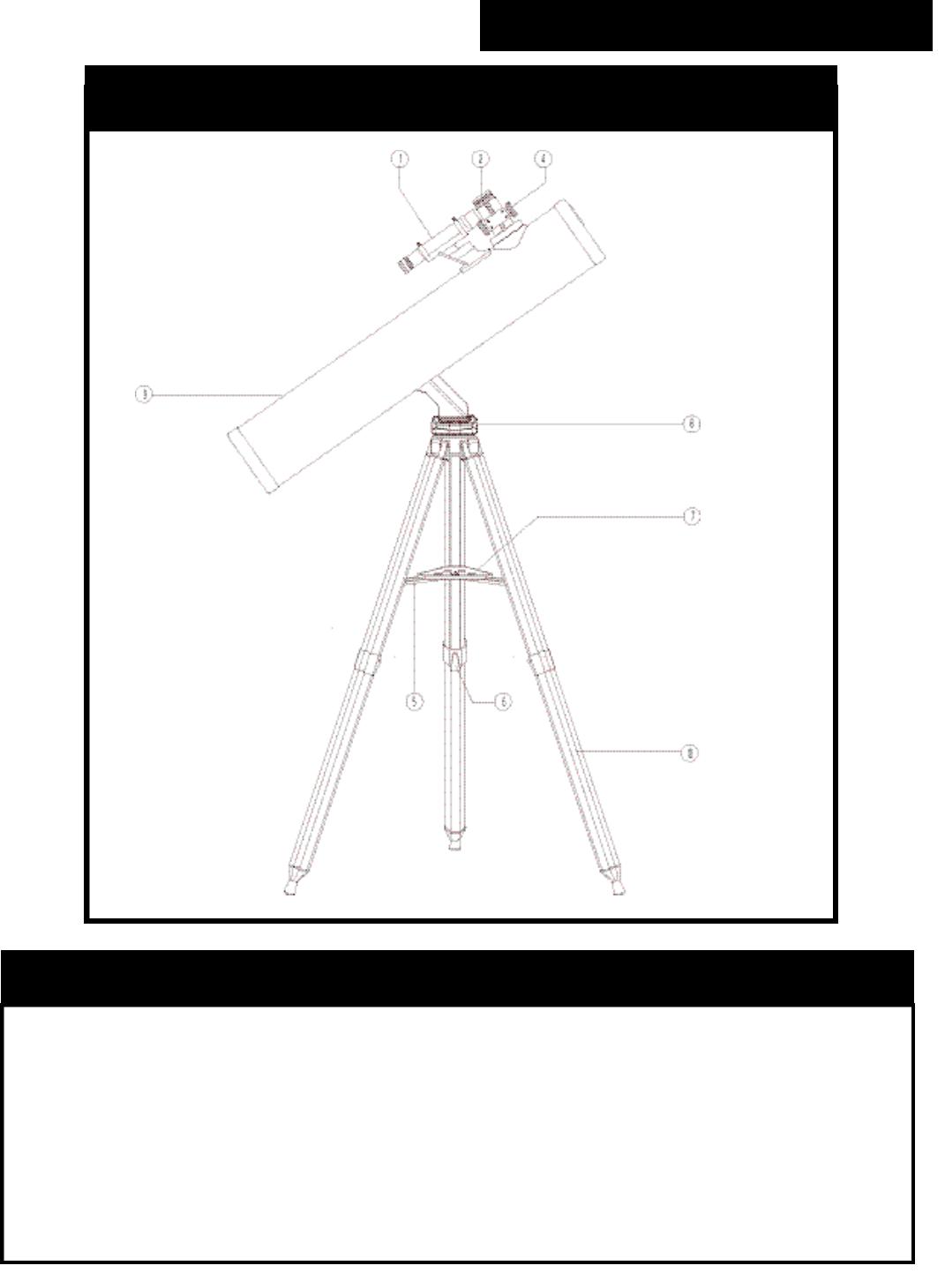 Bushnell 78-7830 Telescope Parts Diagram