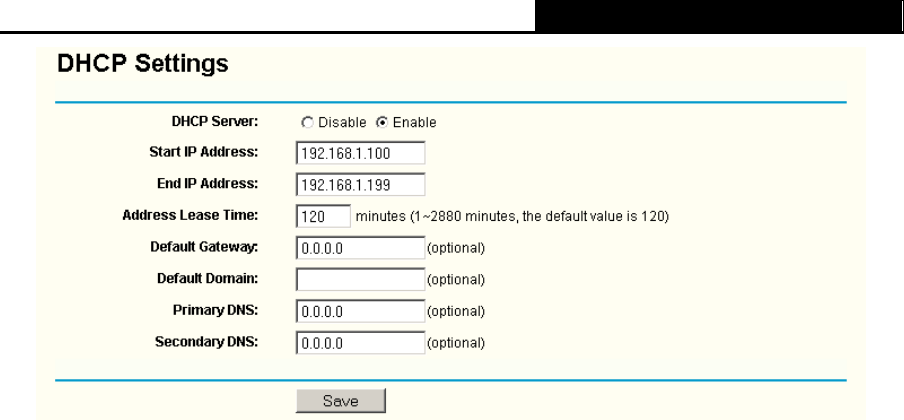 TP-Link TL-WR340G, TL-WR340GD 3 6 2 DHCP Clients List