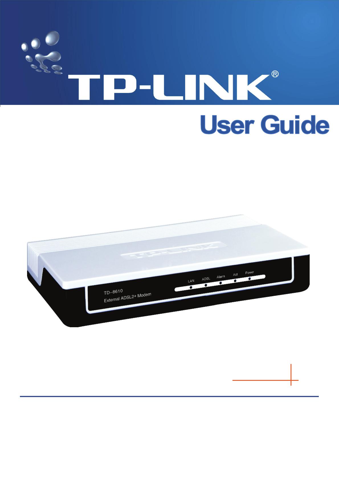 Инструкция установки tp link td 8610