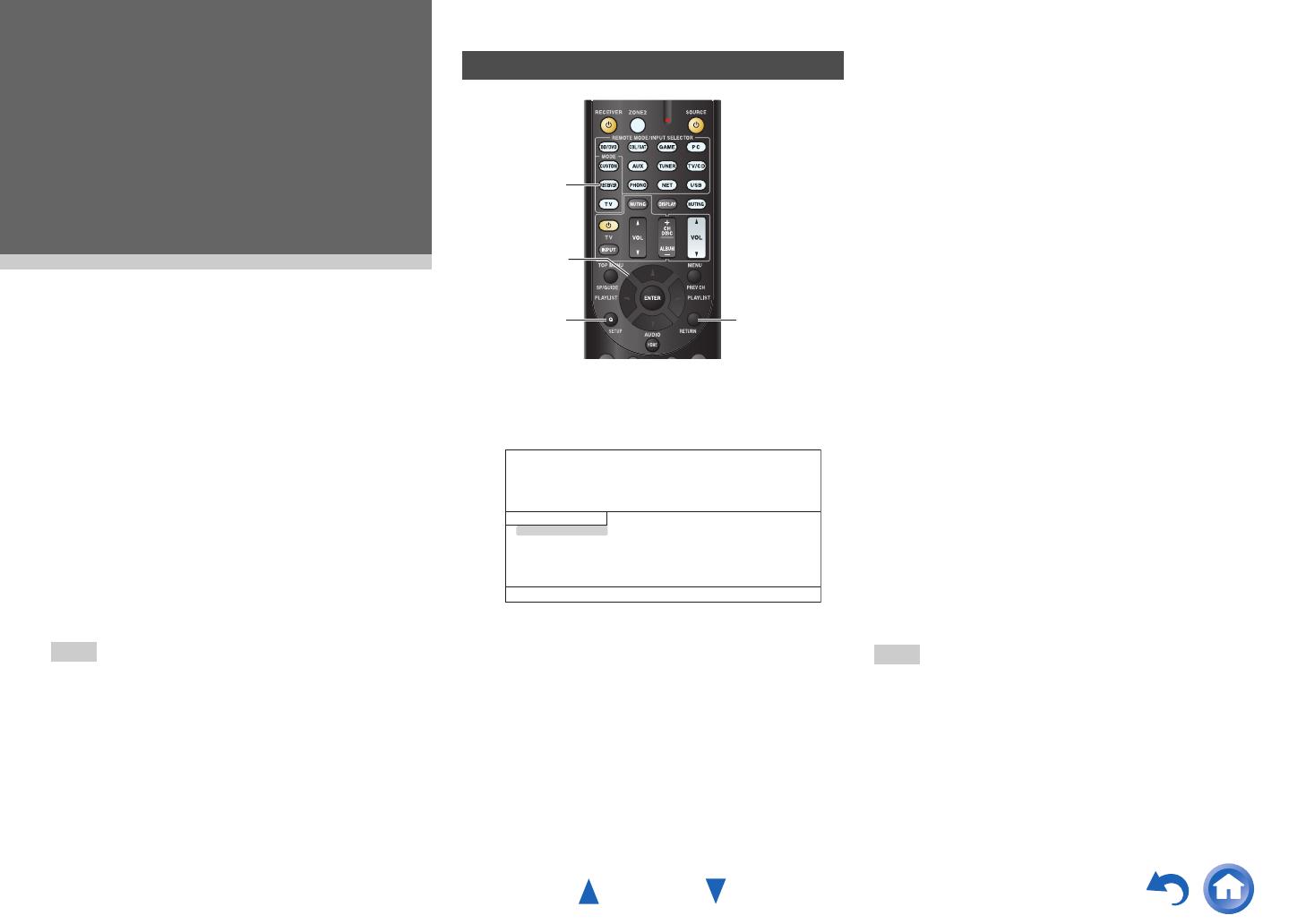 Onkyo TX-NR626 On-screen Setup, Advanced Operations