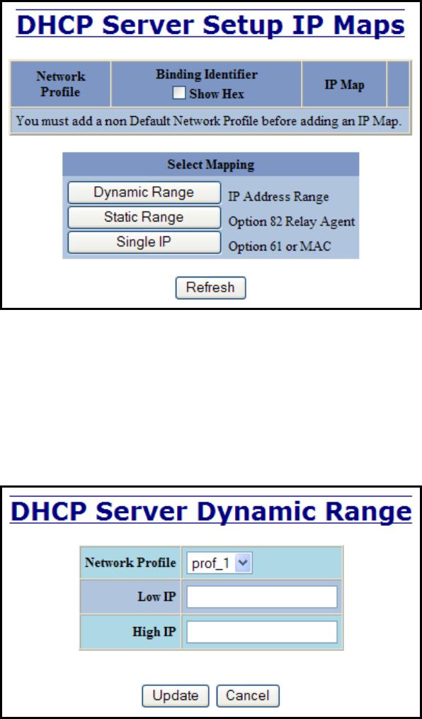 N-Tron 710FX2 DHCP Server Setup IP Maps