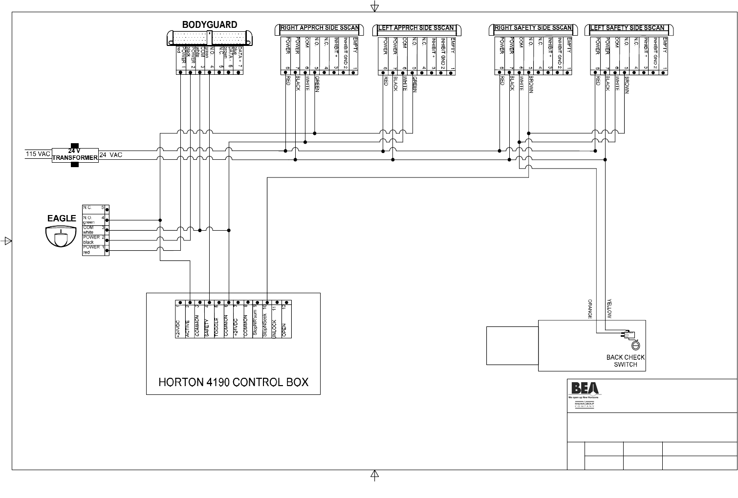 horton 4190 wiring diagram