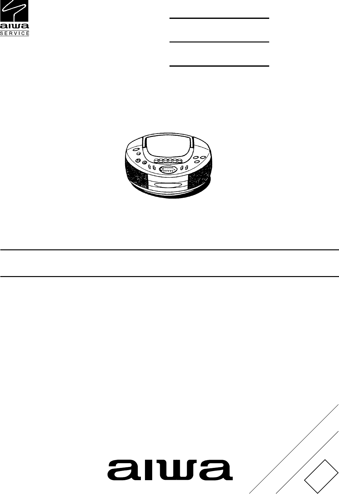 Aiwa Csd Td51 Td52 Td53 Service Manual Radio Wiring Diagram