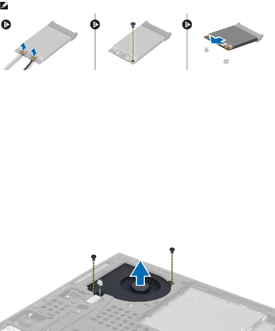 Dell M4800 Installing the Wireless Wide Area Network (WWAN) Card