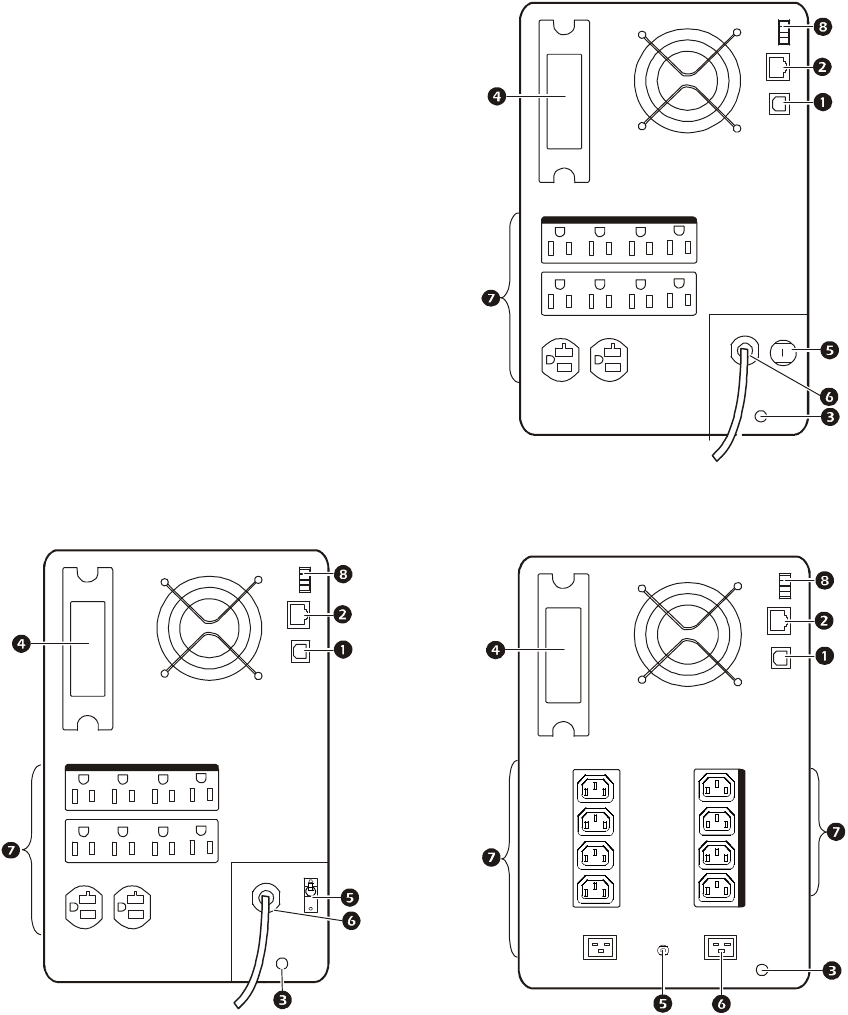 Apc 100 Vac 120 1500 Va 230 3000 750 1000 Epo Wiring Diagram Rear Panel Features 2200 And Models