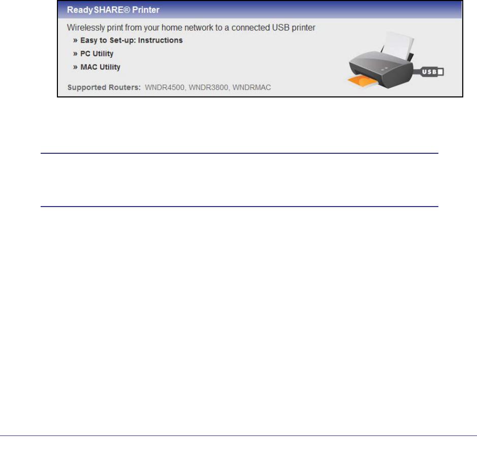 NETGEAR WNDR4500 ReadySHARE Printer