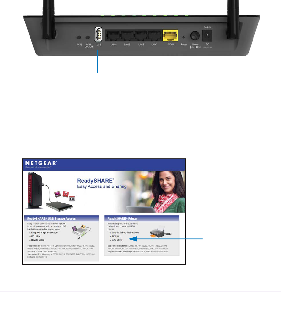 NETGEAR R6220 Install the Printer Driver and Cable the
