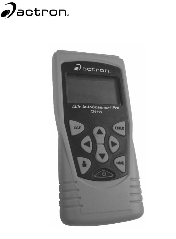 actron scanner cp9185 manual