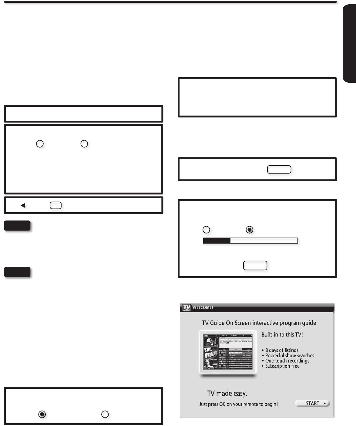 Hitachi P50X902 TV Setup Wizard