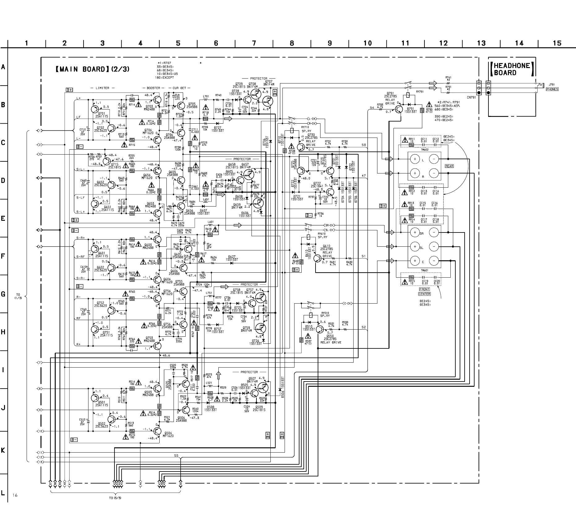 Sony Str De245 De345 3 7 Schematic Diagram Main Section 2