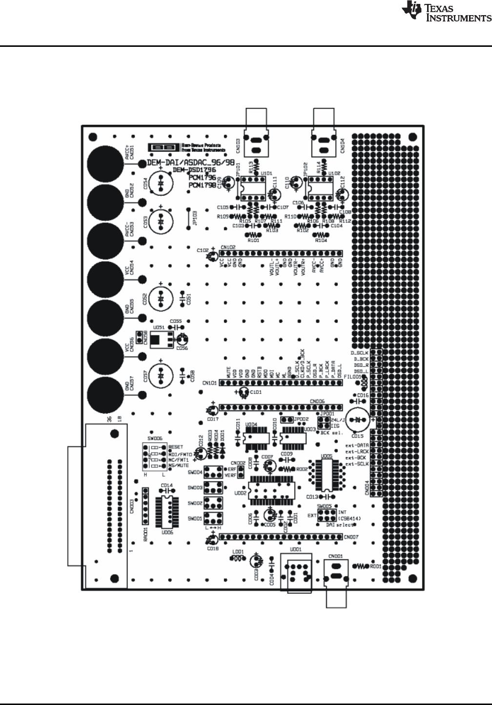 Texas Instruments Dem Dsd1796 Pcm1795 Pcm1796 Pcm1798 Page 12 Printed Circuit Board Designer 21 Dai Asdac Layout