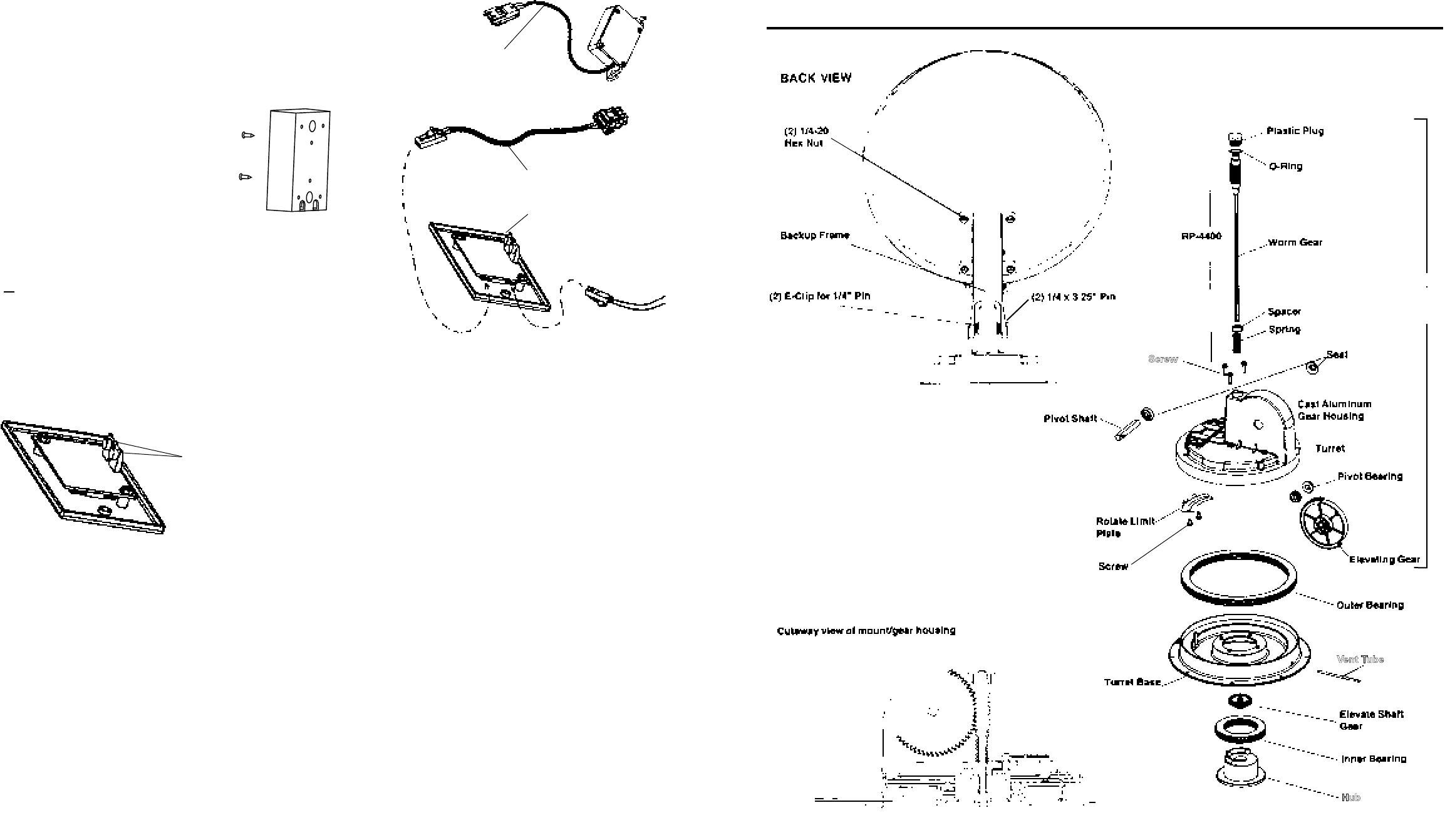 Winegard RM-DM46, RM-DM00, RMDM04, RMFLDM4 Parts List