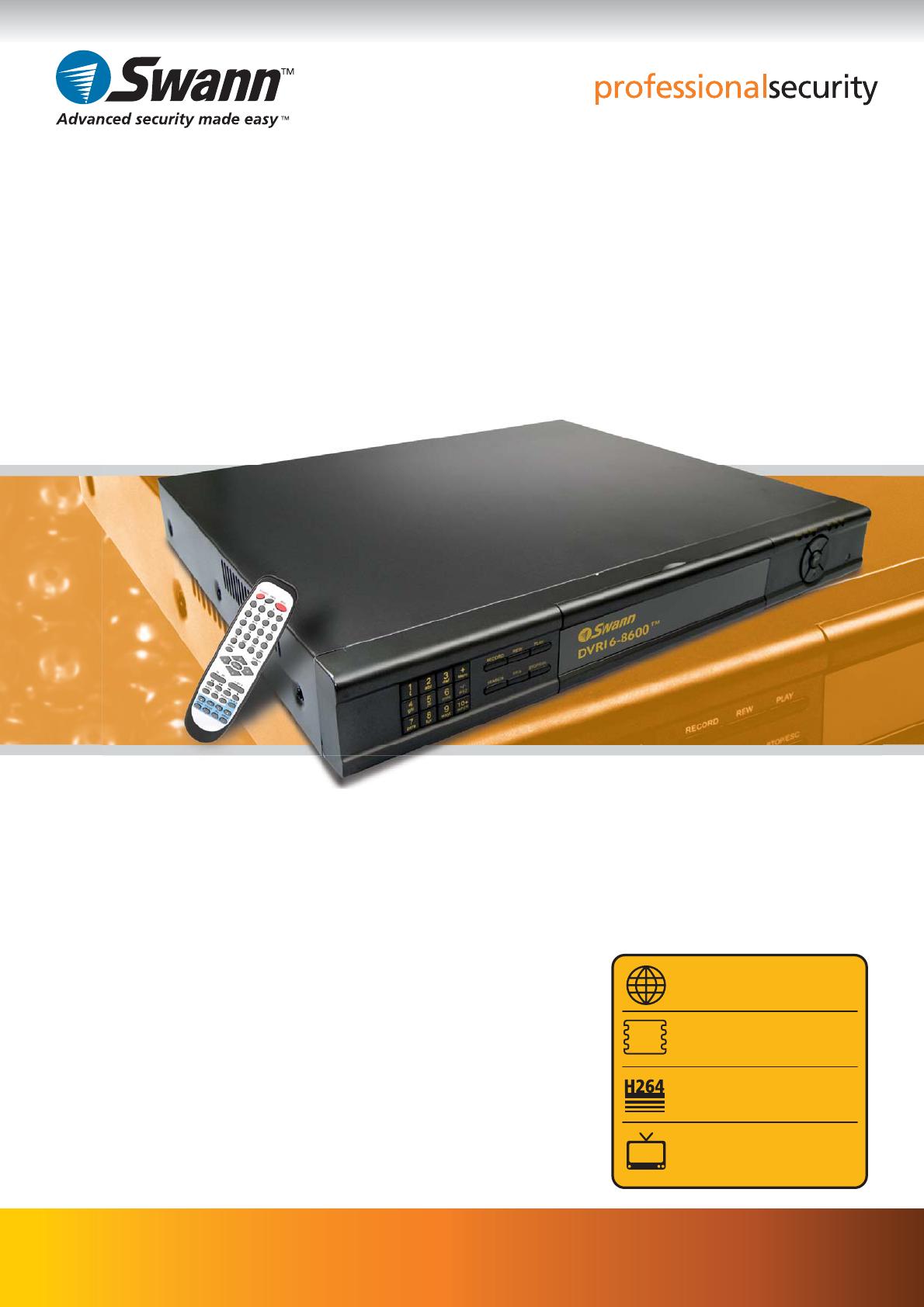 Swann DVR16-8600, SW242-6TH manual