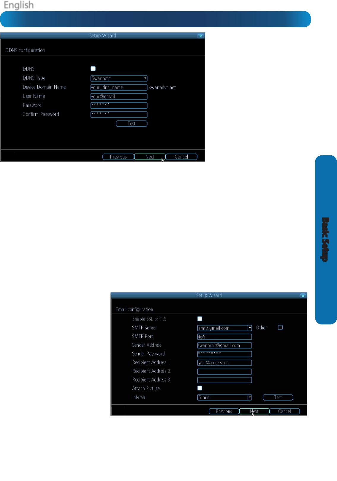 Swann H 264 Basic Setup: DDNS & Email