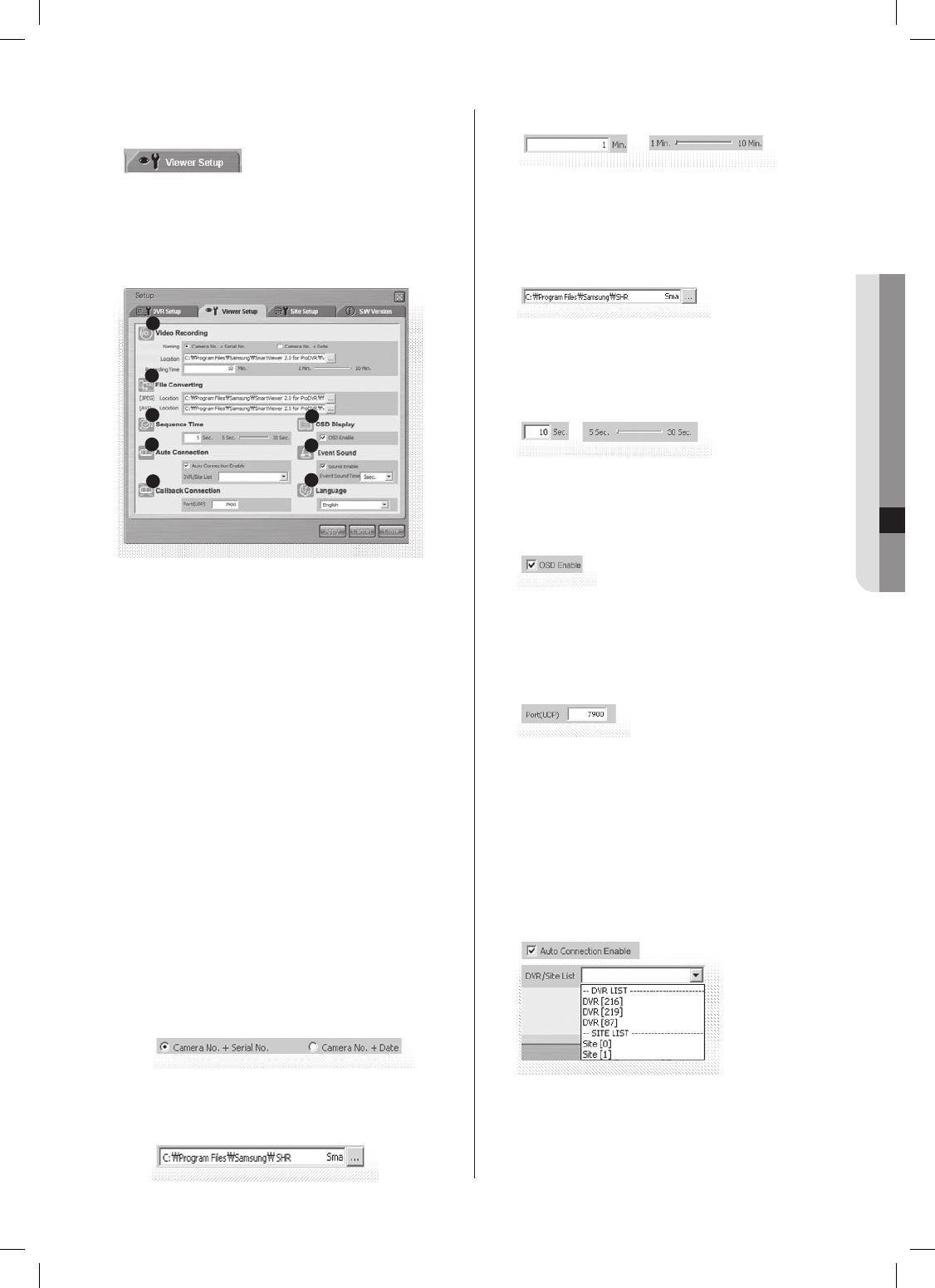 Samsung SHR-5082, SHR-5162 Viewer Setup