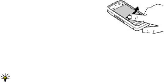 Nokia 5233 Swipe, Scroll, Touch screen backlight