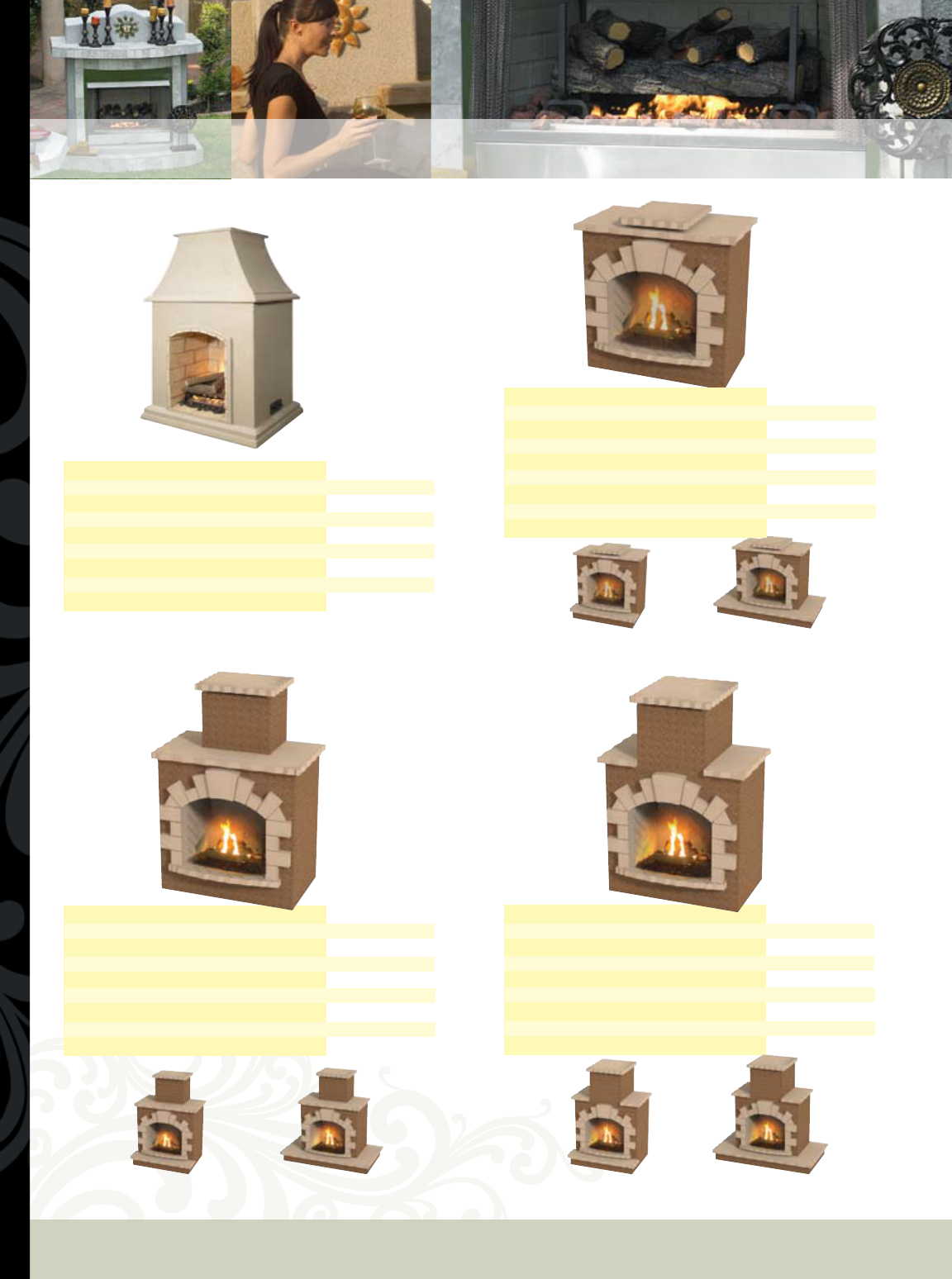 Cal Flame Outdoor Woodburning Fireplace Frp 906 Frp 908 Frp 907