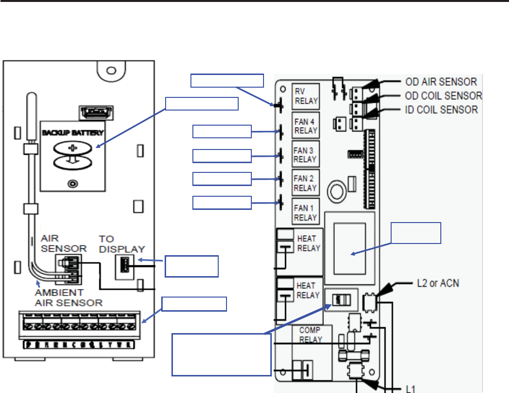 Friedrich R 410a Electronic Control Board Components Identification Wiring Diagrams Front