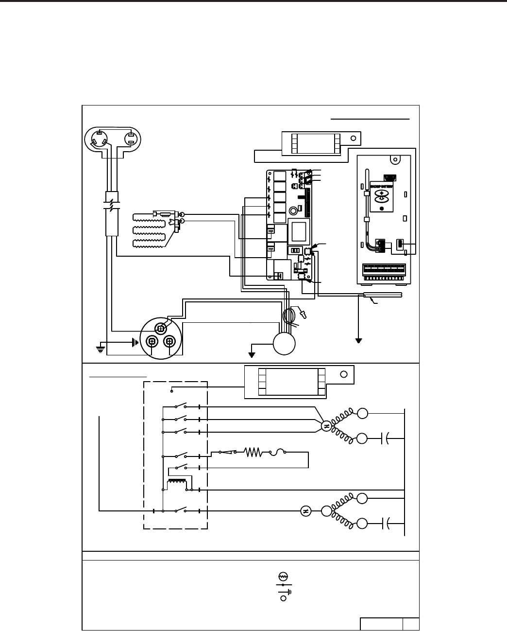 Friedrich R 410a Cool With Electric Heat Models Es12m33a Es15m33a Wiring Diagrams Em18m34a Em24m34a