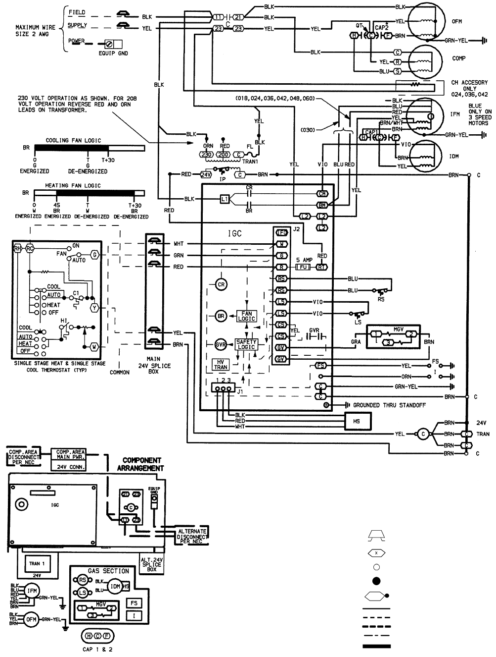 Bryant 588a 589a Fig 26 208 230 1 60 Wiring Diagram Units 588a018 060 Air Conditioner