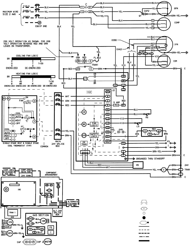 Bryant 588a 589a Fig 31 208 230 3 60 Wiring Diagram Units 589a036 042 7 Idm Wire