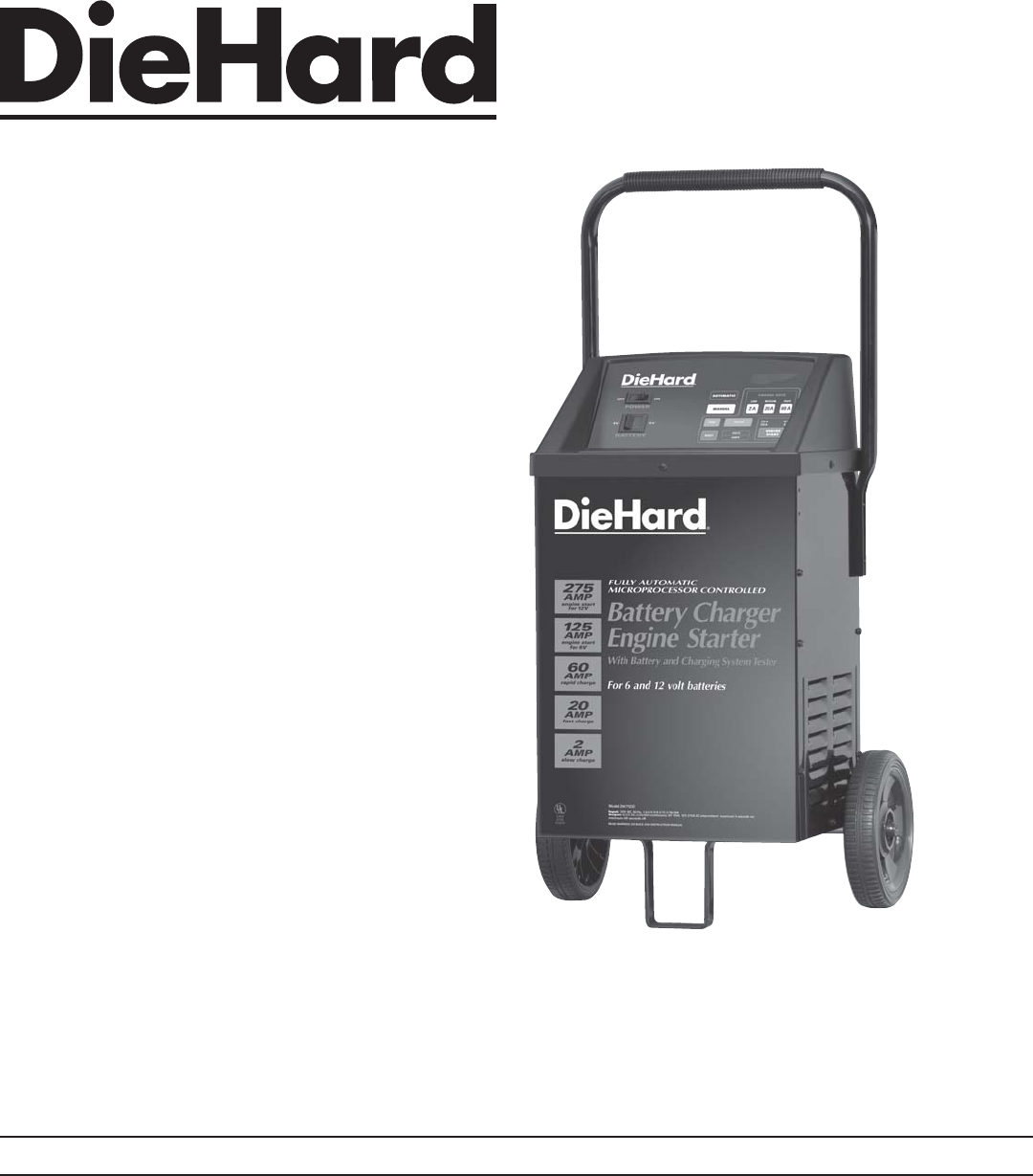 Sears 20071232 Owner Manual Die Hard Battery Charger Wiring Diagram Roebuck And Co Hoffman Estates Il 60179 Usa