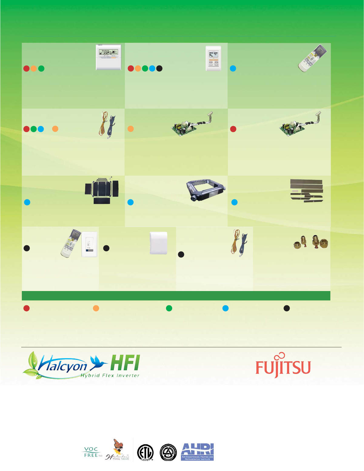 Fujitsu AOU18RLXFZ, AOU24RLXFZ, AOU36FLXFZ, Hybrid Flex Inverter System Optional Accessories