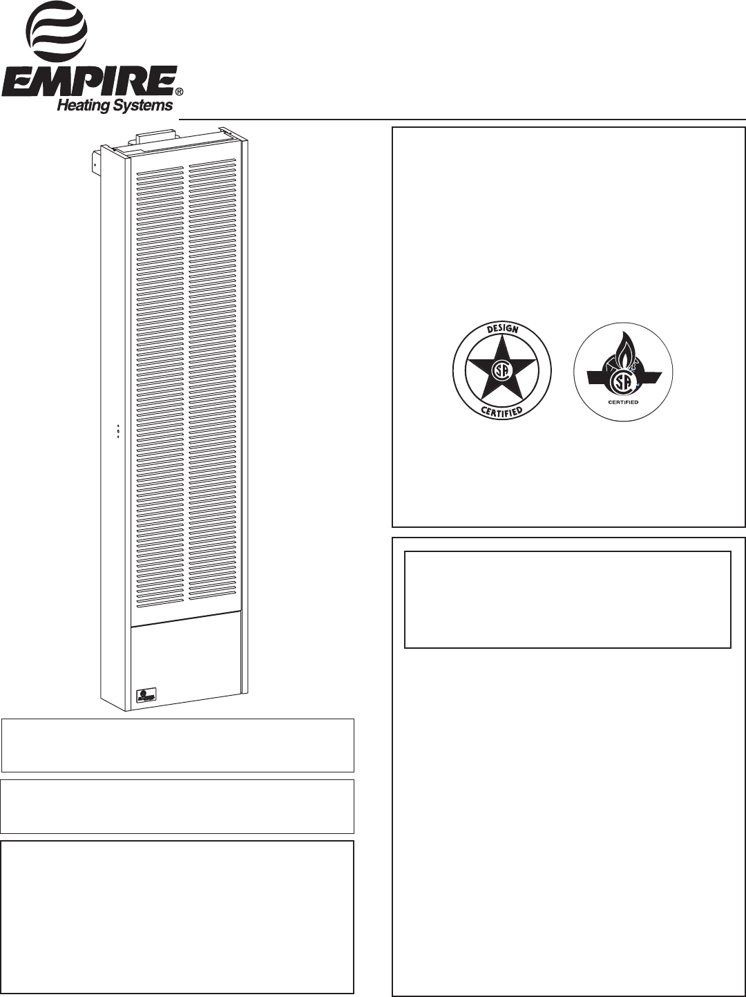 Empire Products Gwt 25 2 35 Rb Installation Instructions Wiring Diagrams Gravity Vented