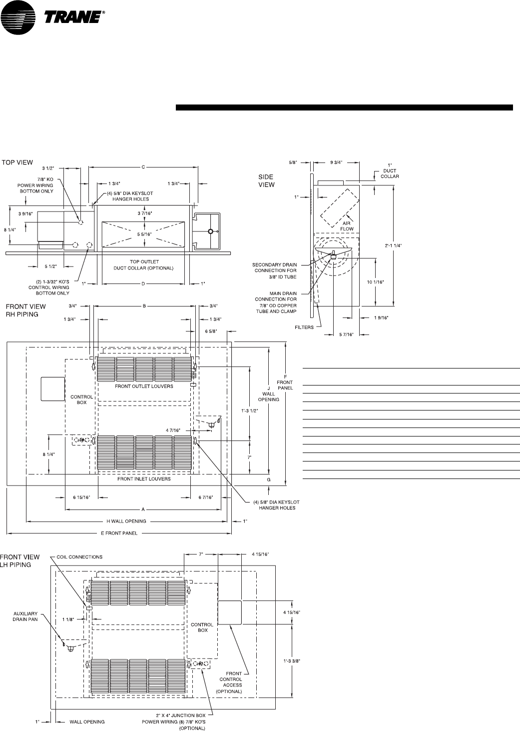 Trane Fan Coil Unit Wiring Diagram