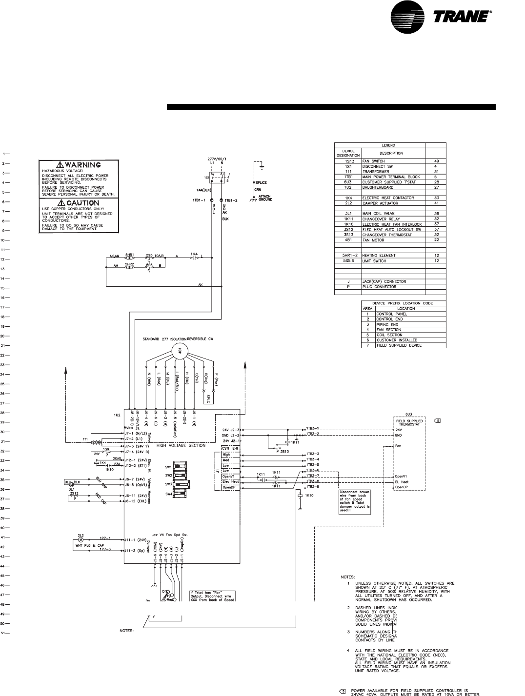 Trane Unitrane Fan Coil Force Flo Air Conditioners Unt Svx07a En Unit Wiring Diagram Search