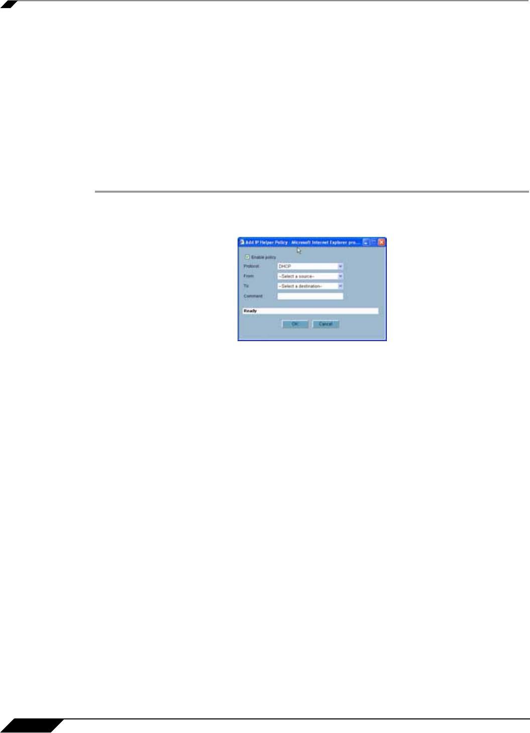 SonicWALL TZ 190 IP Helper Policies , Adding an IP Helper