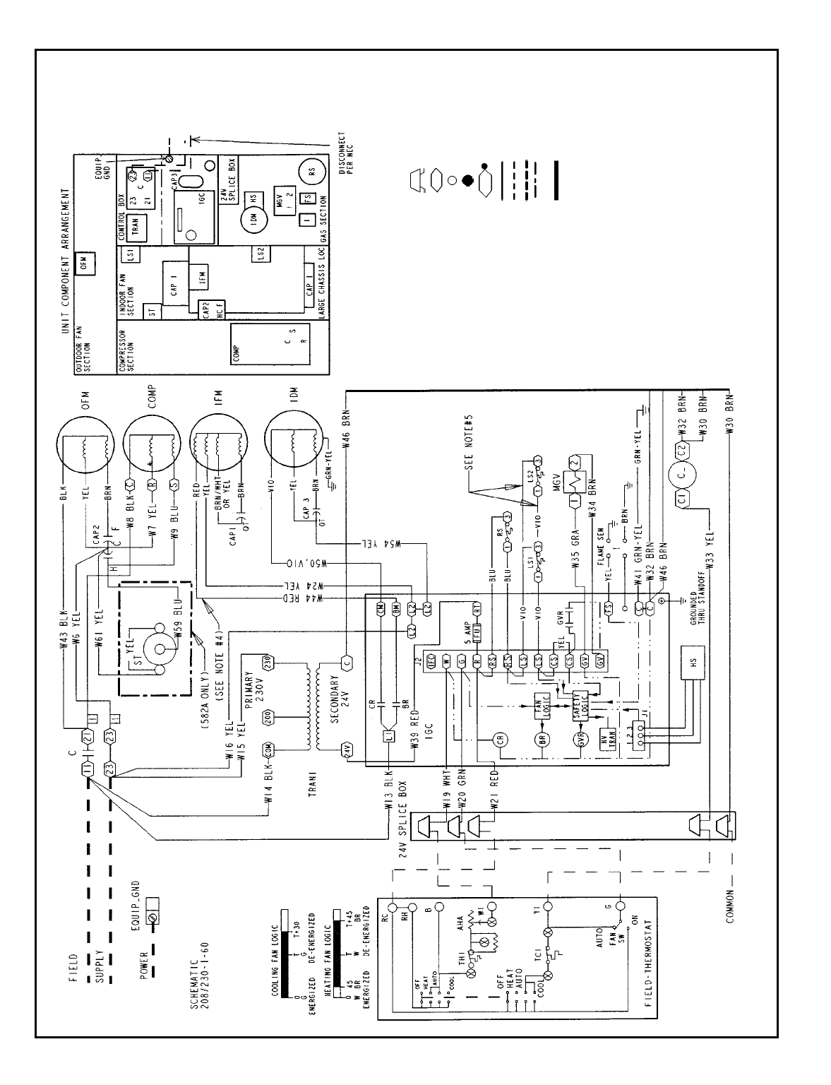 208 Wiring Diagrams Bryant 582a Typical Schematic 582a018 060 230 1 60 Legend