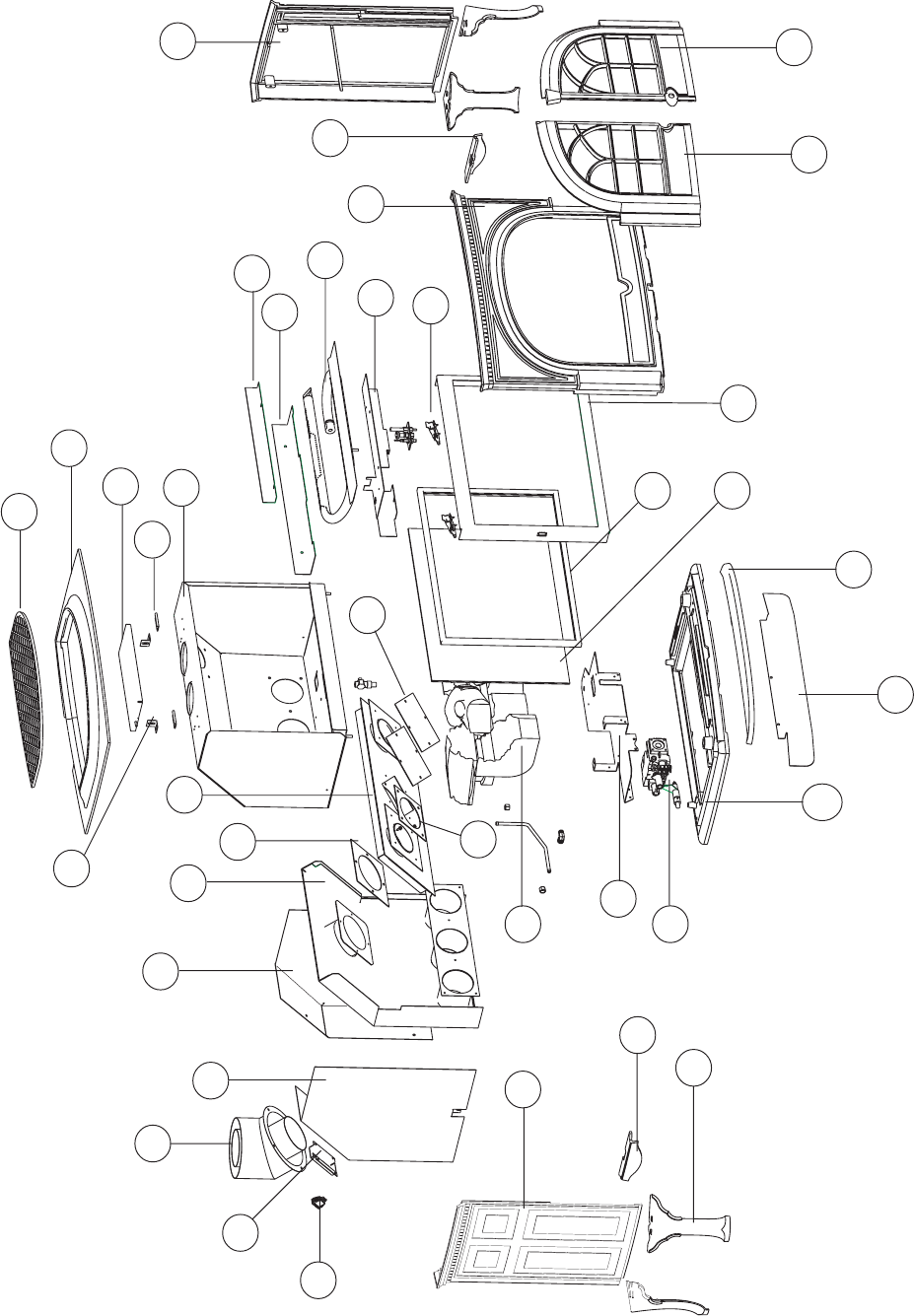 Jotul Gf 600 Dv Firelight Parts Identification