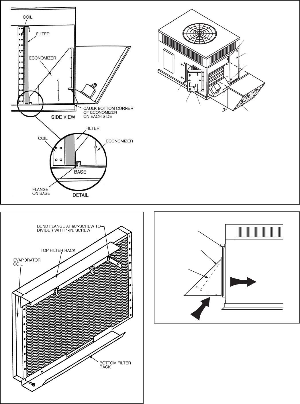 Bryant 574b Filter Rack Manual Outside Air Damper Economizer Wiring Diagram