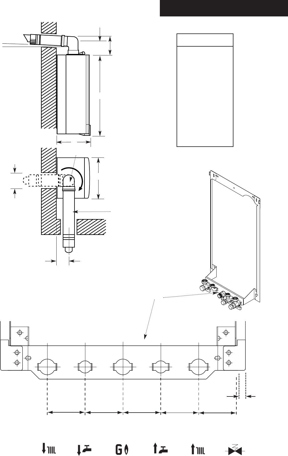 Potterton Performa 24 >> Baxi Potterton Performa 24 Eco He 5 0 Dimensions And Fixings