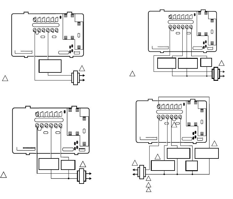 honeywell ct3600 ct3697 wiring diagrams