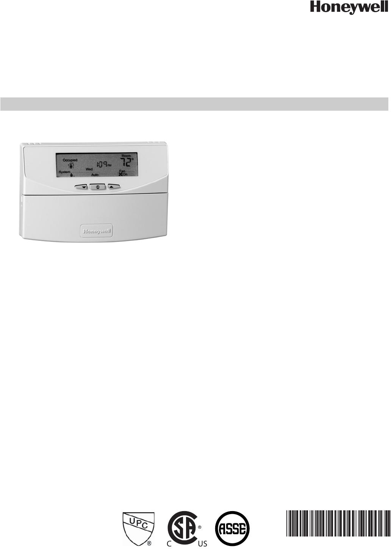 Honeywell T7351 Specifications Economizer Wiring Diagram