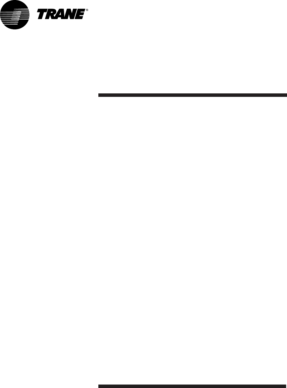 Trane RT-SVX19A-E4 manual