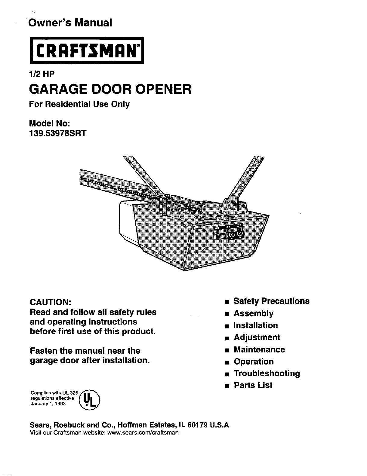 Craftsman 40.40SRT owner manual