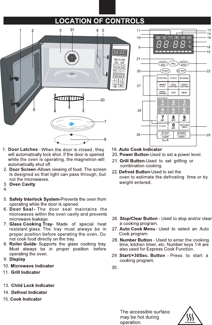 Emerson Mwcg1584sb Grill Rack Place On The Turntable Microwave Fan Wiring Diagram
