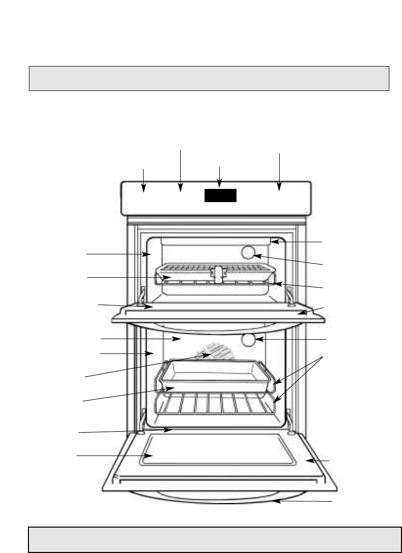 Hotpoint bd32 bd42 dy46 the main parts of your double oven nvjuhfo Image collections