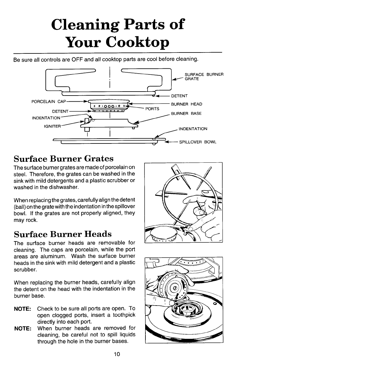 Jenn Air Ccg456 Cleaning Parts Of Your