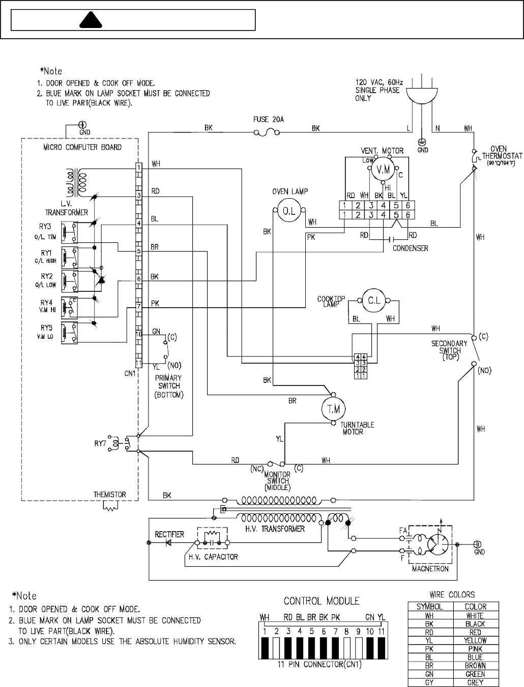 Maytag Aco1520ab Aco1520ac Aco1520aw Aco1530ab Aco1530aw Sensor Circuit Wiring Diagrams Also Humidity Schematic Diagram And Schematicto Avoid The Risk Of Electrical Shock Personal Injury Or